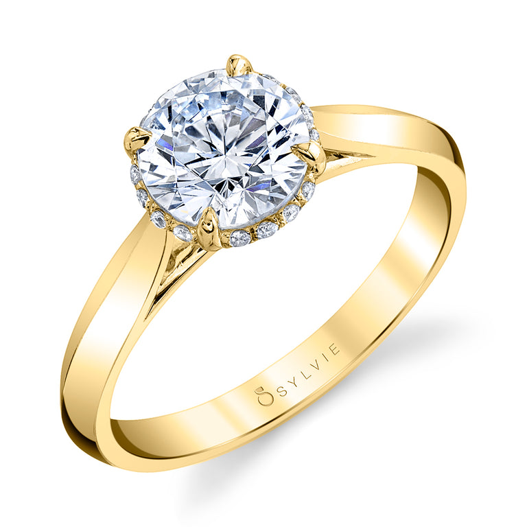 Unique Hidden Halo Engagement Ring S2500-RB - Chalmers Jewelers
