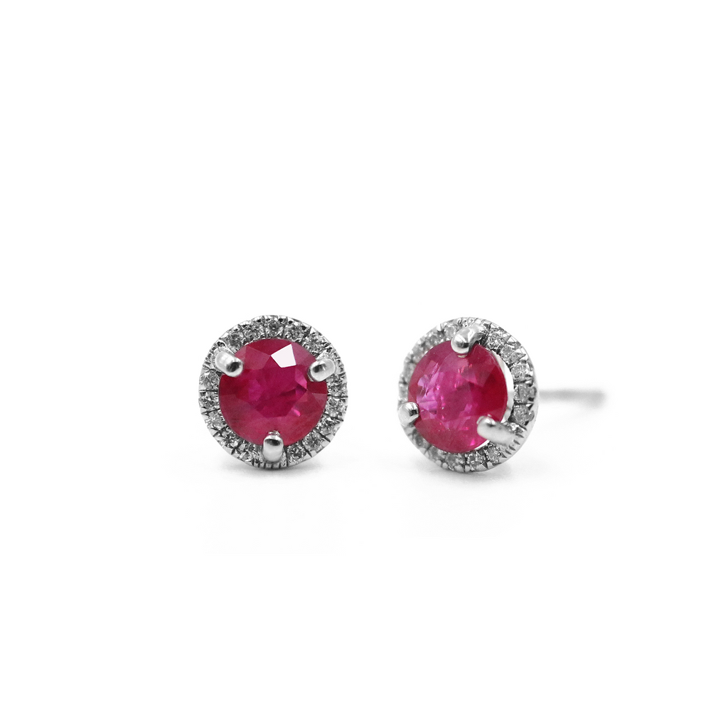 Burmese Ruby Earrings