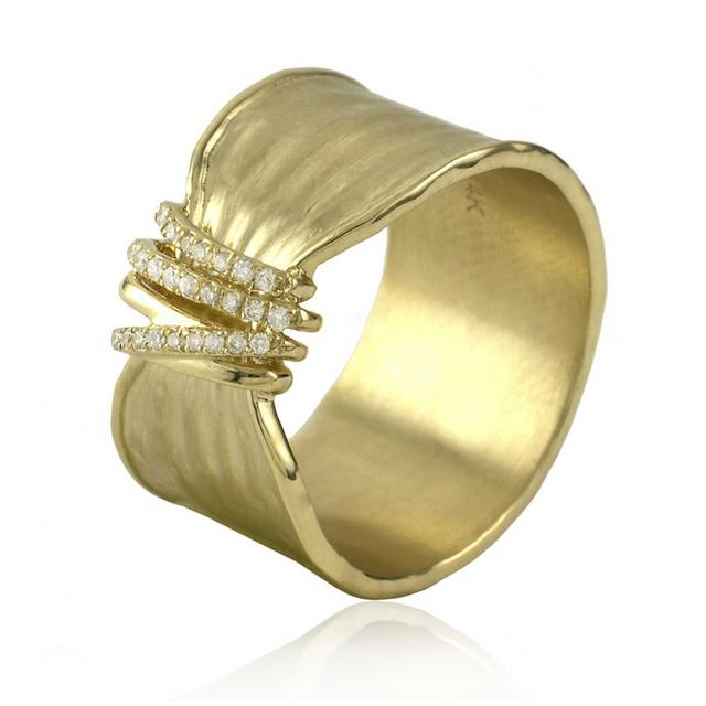 Milan Diamond Twist Ring