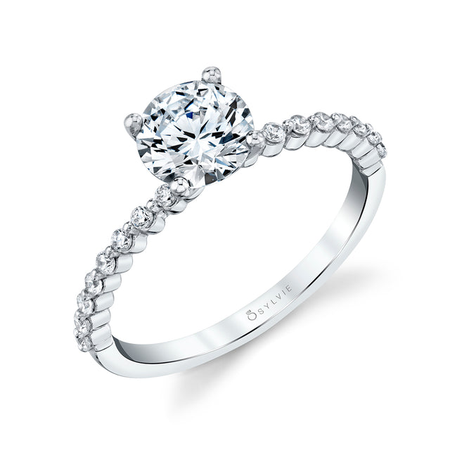 Round Solitaire Engagement Ring S1P16 -.16 - Chalmers Jewelers