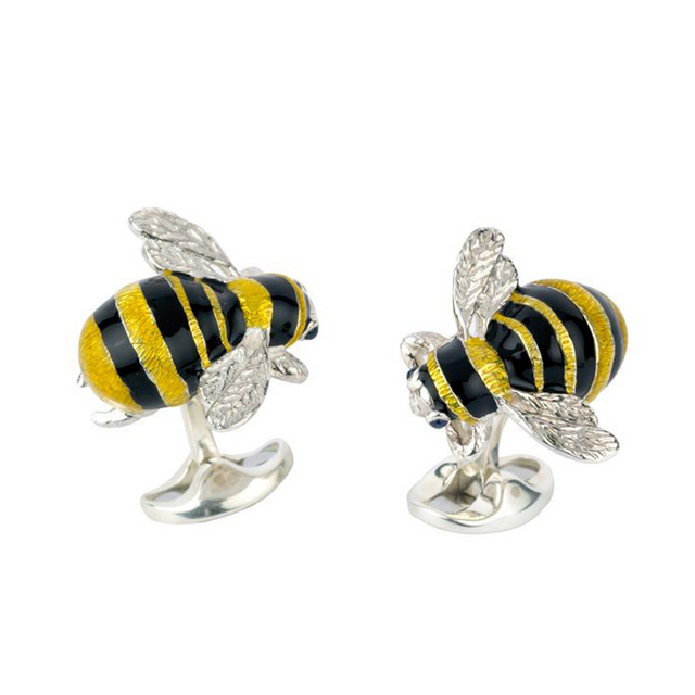 Deakin & Francis Silver Bumble Bee Cufflinks - Chalmers Jewelers