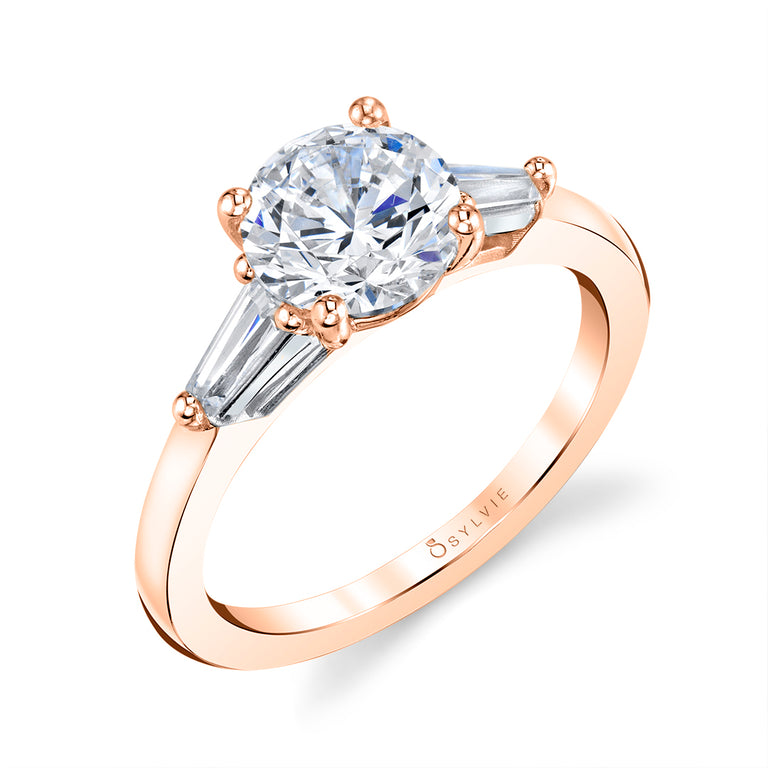 Three Stone Cushion Engagement Ring S3012 - CU - Chalmers Jewelers