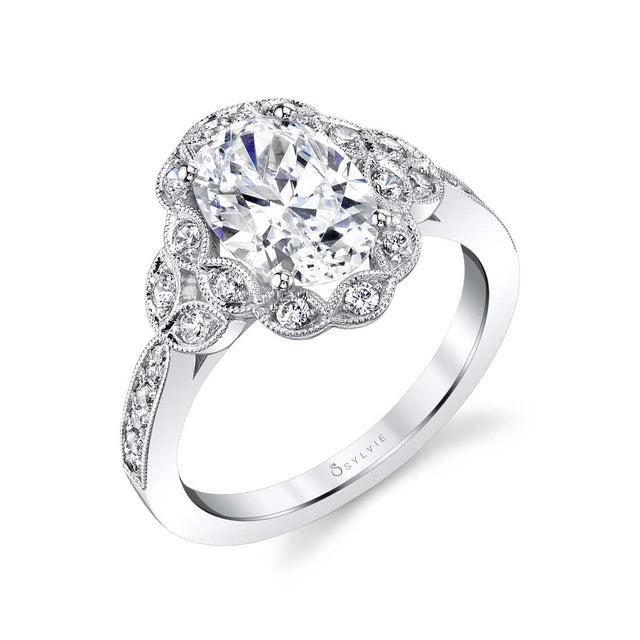 Sylvie Oval Engagement Ring S1876 - Chalmers Jewelers