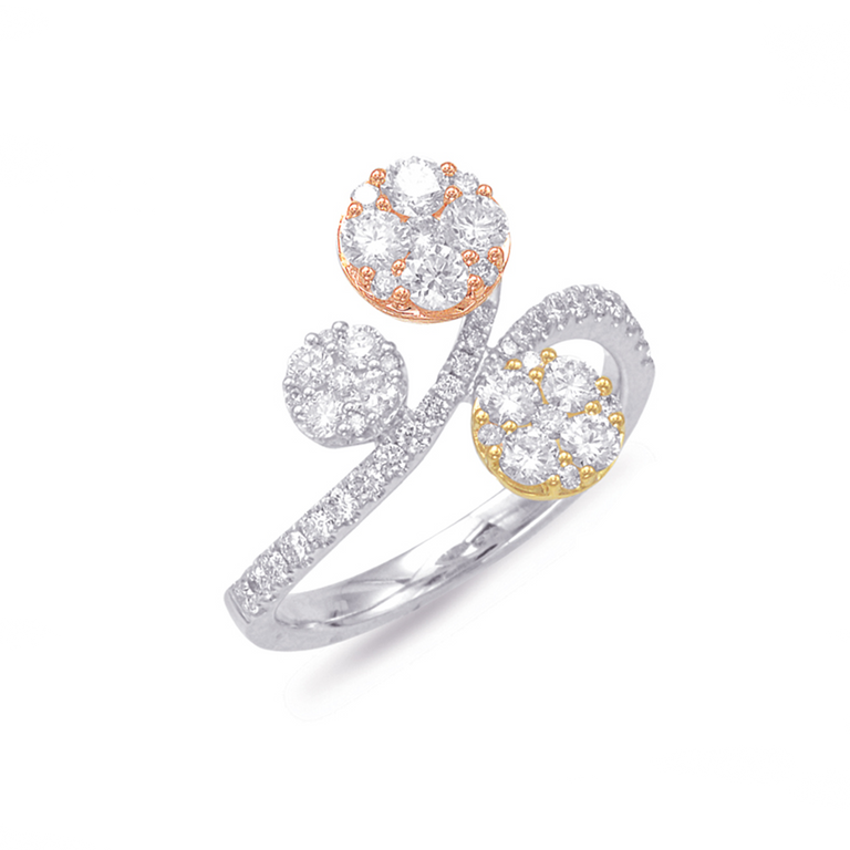 Rose, Yellow, White Gold Diamond Ring - Chalmers Jewelers