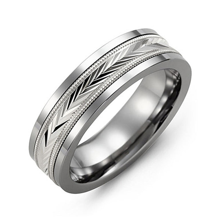 V-Cut Wedding Band - Chalmers Jewelers