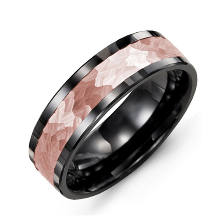 Hammer Effect Wedding Band