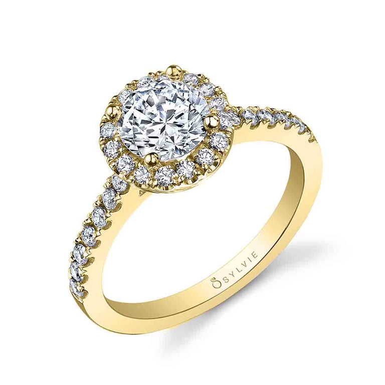 Classic Round Halo Engagement Ring SY999-RB - Chalmers Jewelers