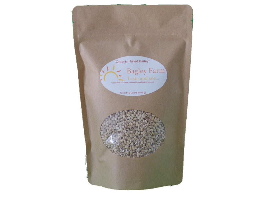 Bagley Farm's Organic Hulled Barley 1 lb Certified Organic Whole Grain