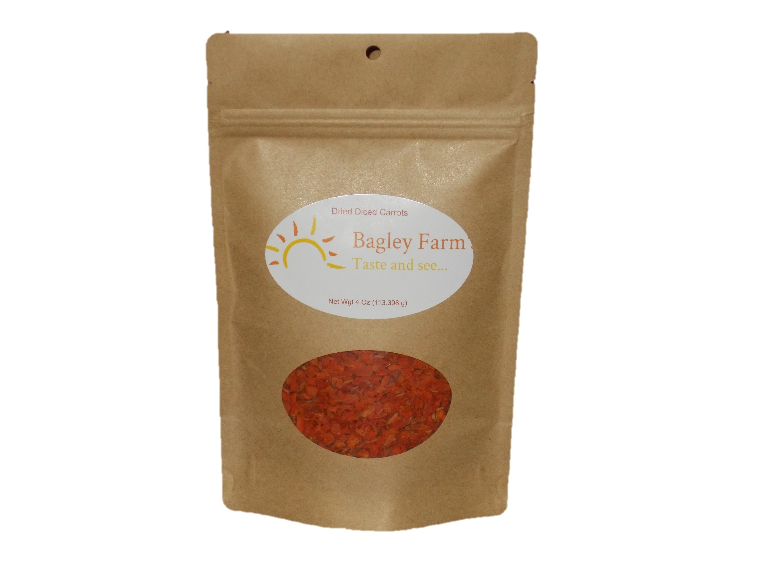 Dried Diced Carrots 4 oz