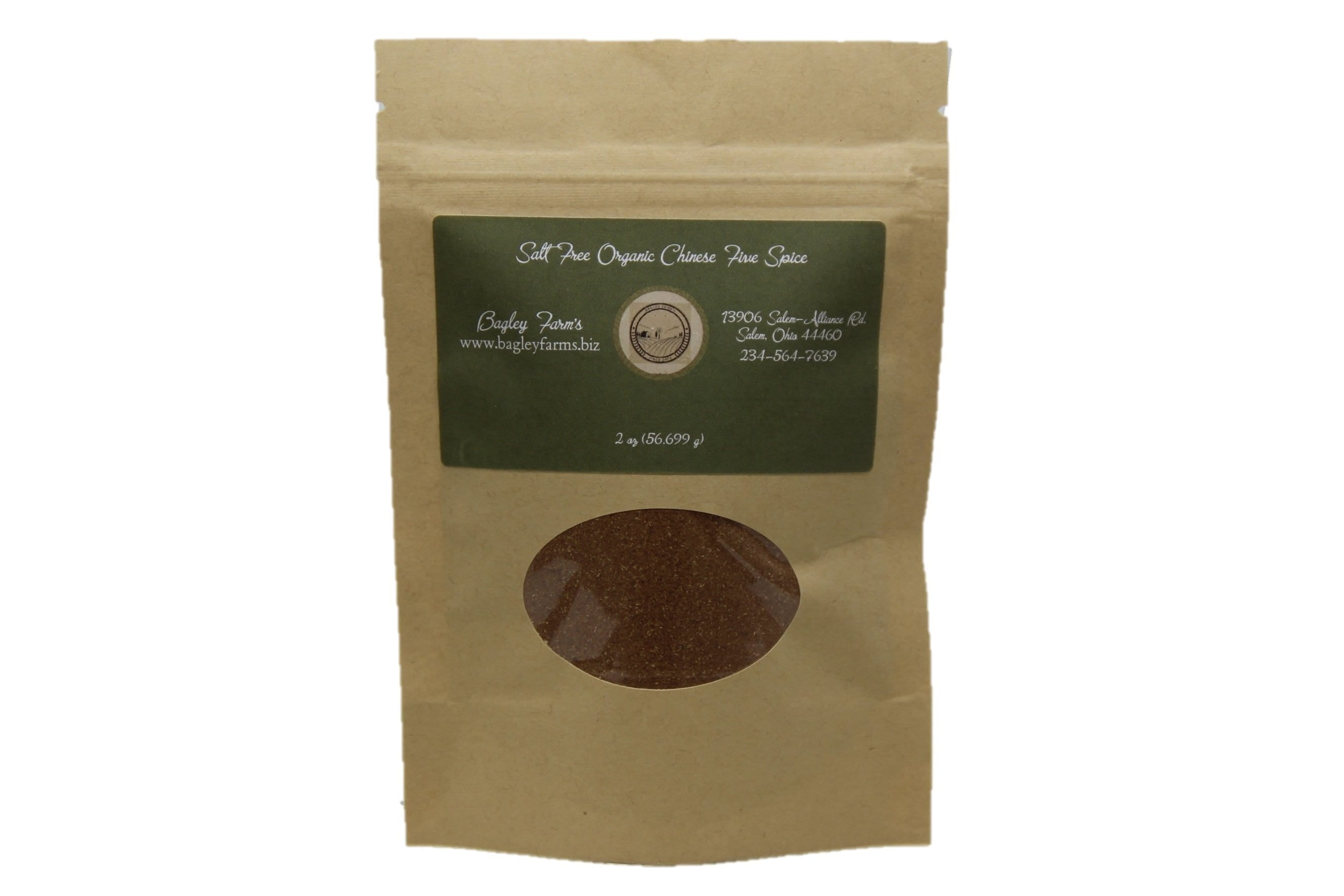 Organic Chinese Five Spice (Salt FREE) 2 oz
