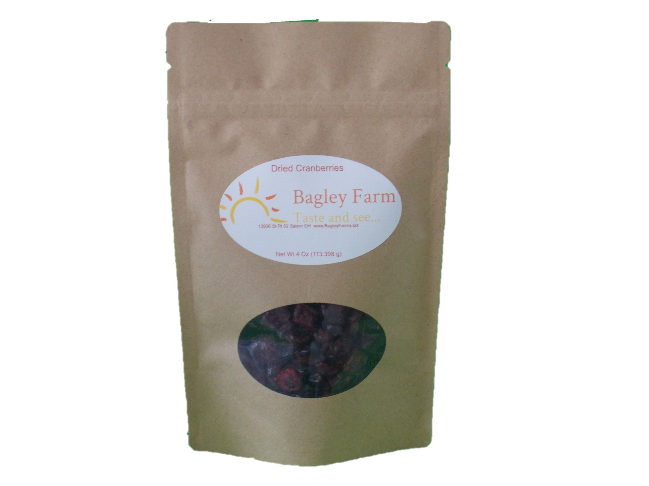 Dried Cranberries 4 oz