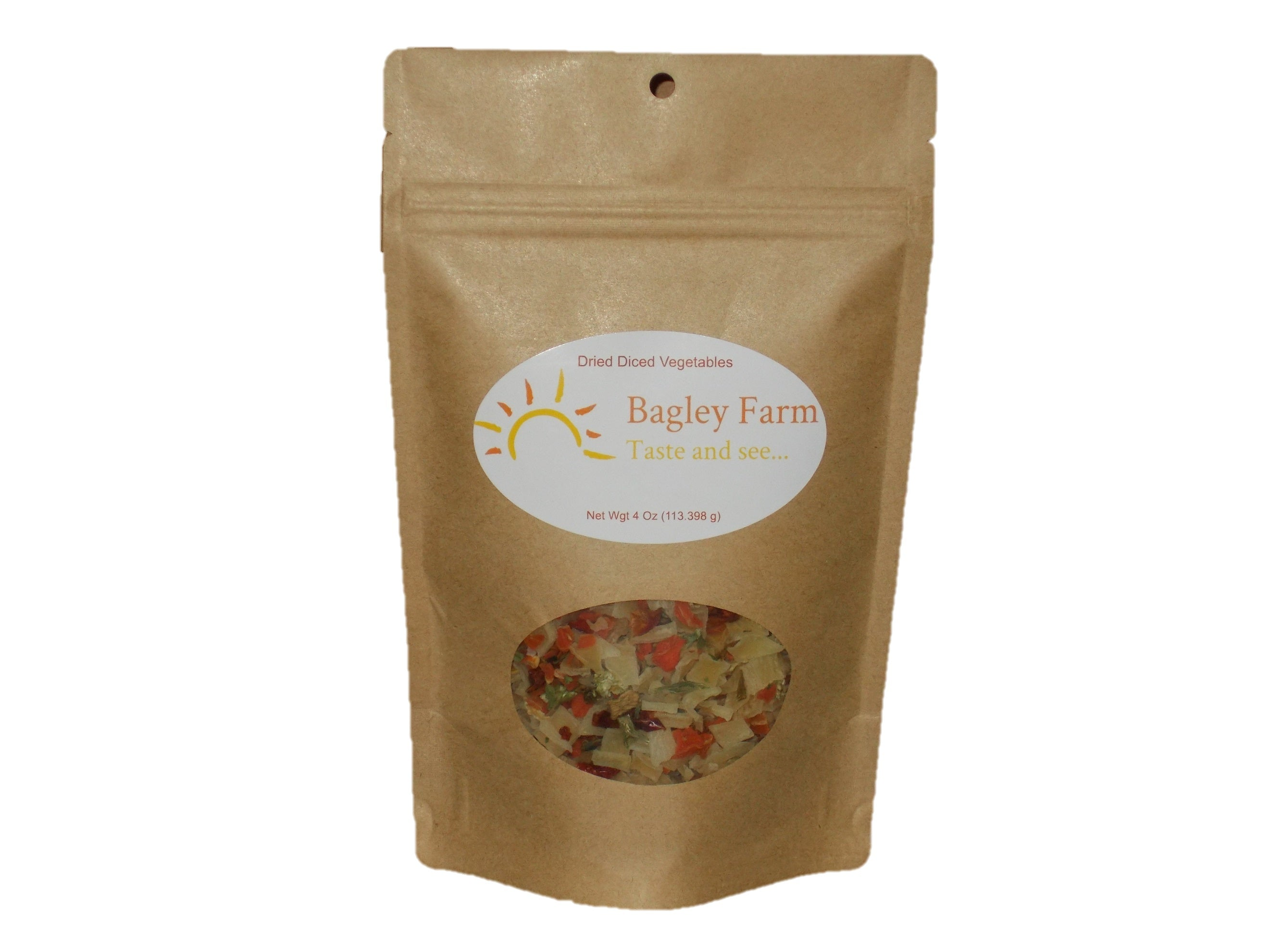 Bagley Farm's Natural Dried Diced Vegetables 4 oz