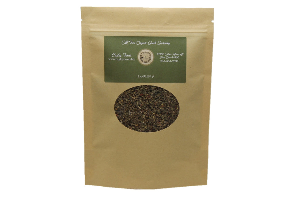 Organic Greek Seasoning (Salt Free) 1 oz