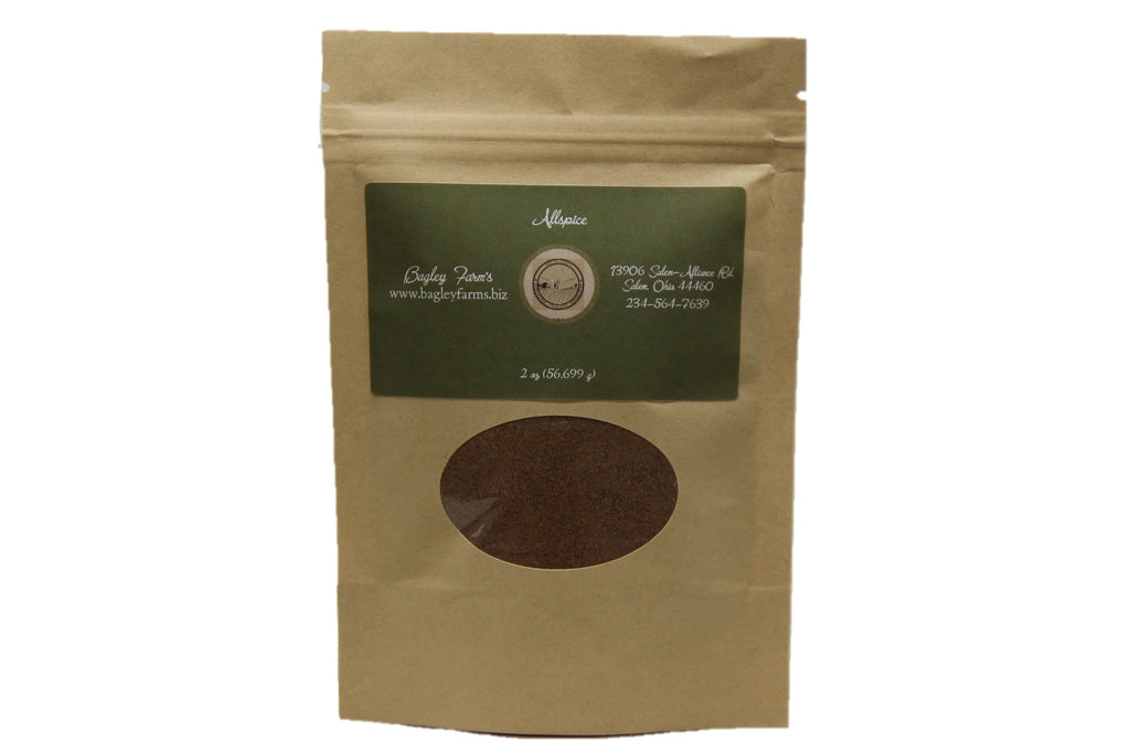 Bagley Farm's Organic Ground Allspice 2 oz  Certified Organic