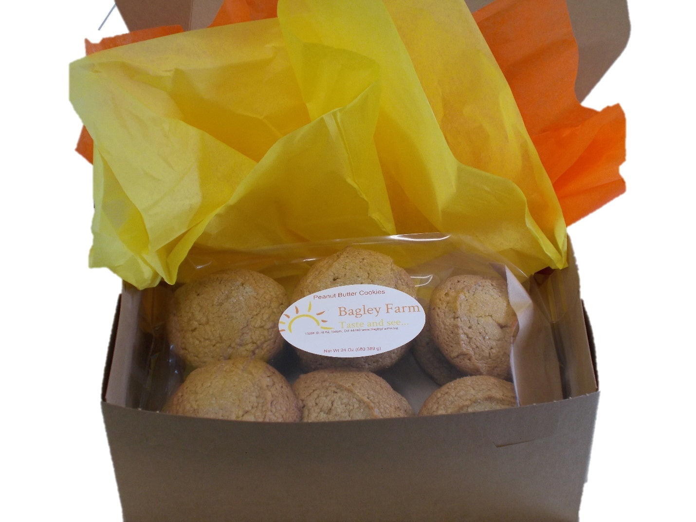Bagley Farm's Peanut Butter Cookies - 1 dozen  Available in Gluten Free