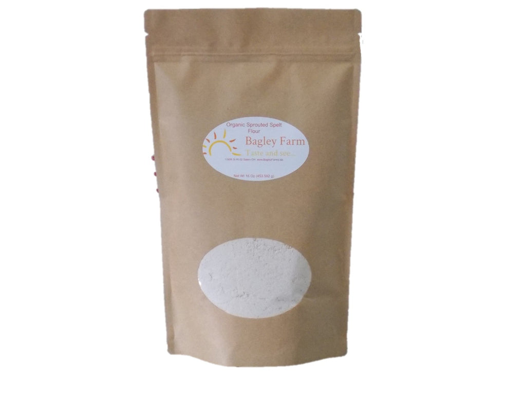 Bagley Farm's Organic Sprouted Spelt Flour 16 oz  Certified Organic
