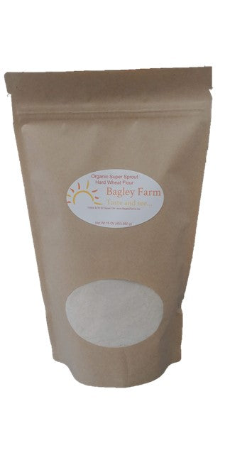 Bagley Farm's Organic Super Sprout Whole Grain Wheat Flour 16 oz  Certified Organic