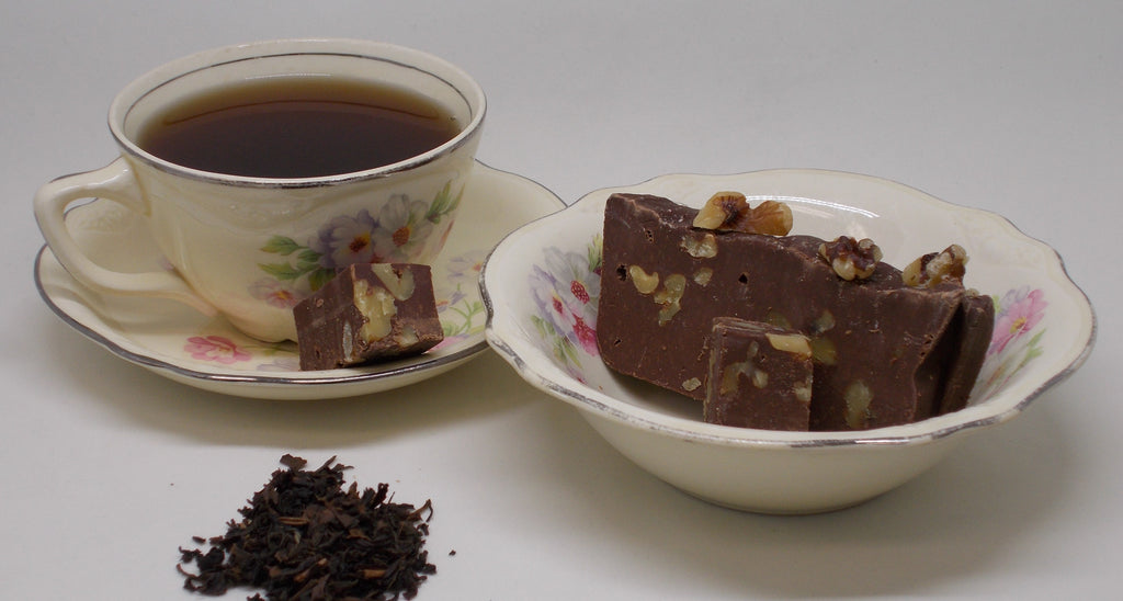 Organic Tea and Rich Old Fashioned Fudge