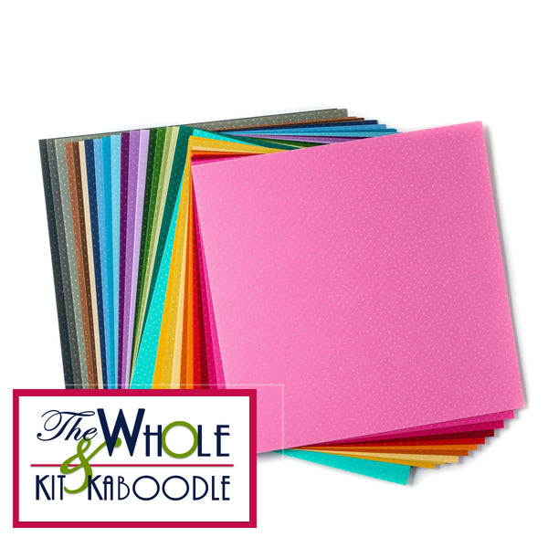 Embossed Dot Cardstock 12x12 Collection