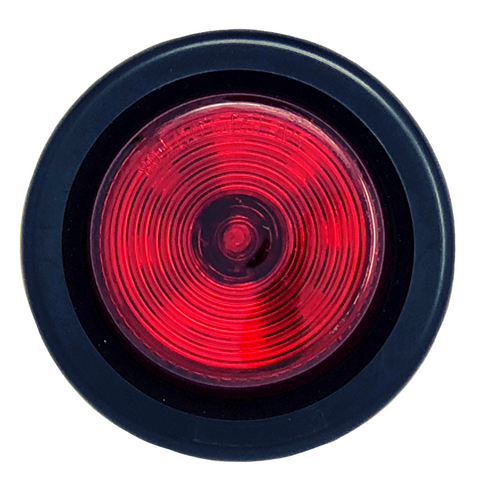 "2"" Round Red 9 LED Light Trailer Side Marker Clearance Grommet & Plug"