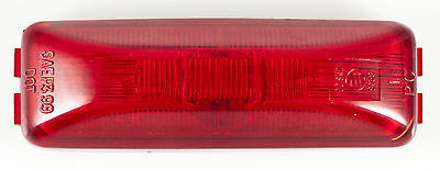 "(1) Red 4"" Inch Rectangle Truck Semi Trailer Sealed Side Marker Clearance Light - All Star Truck Parts"