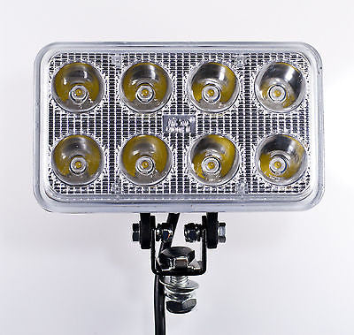 "6"" Inch 8 LED Rectangle Work Spot Light 24w Off Road Jeep Truck 4x4 Lamp - Qty 1 - All Star Truck Parts"