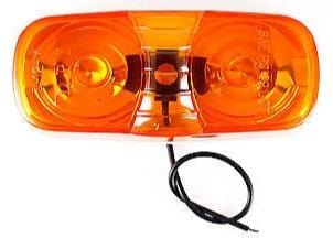 "4""Inch Amber Double Bullseye Camper RV Trailer Side Marker Clearance Light - All Star Truck Parts"