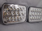 "7x6"" inch 15 LED H6054 Headlights & Relay Harness High/Low Beam 6000K 45W - Pair - All Star Truck Parts"