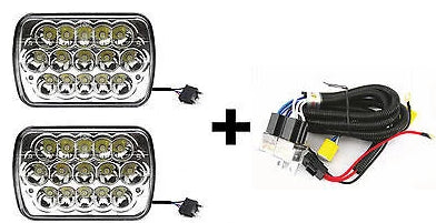 Enjoyable 7X6 Inch 15 Led H6054 Headlights Relay Harness High Low Beam Wiring Cloud Oideiuggs Outletorg