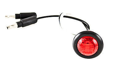 "3/4"" RED 3 LED CLEARANCE SIDE MARKER BULLET LIGHTS BLACK RING TRAILER TRUCK - All Star Truck Parts"