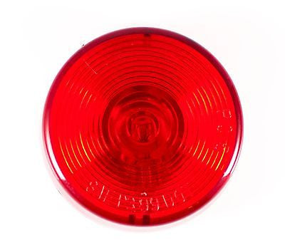 "2.5"" Inch Red Round Sealed Side Marker Clearance Light - Truck/Trailer - All Star Truck Parts"