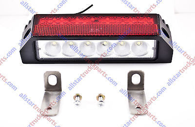 36 LED Combination Stop Turn Tail & License Plate Light Red White Trailer Truck - All Star Truck Parts