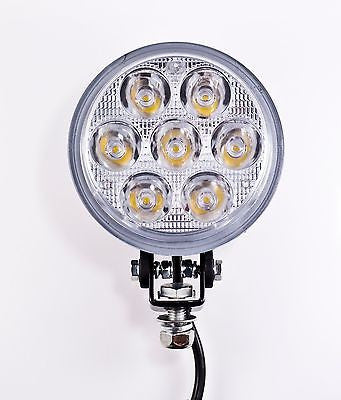 4.5 inch 7 LED Round Work Spot Light 21w Off Road Jeep Truck 4x4 Lamp - Qty 1 - All Star Truck Parts