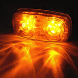 "4"" Inch Amber 12 LED Double Bullseye Camper Side Marker Clearance Light - All Star Truck Parts"