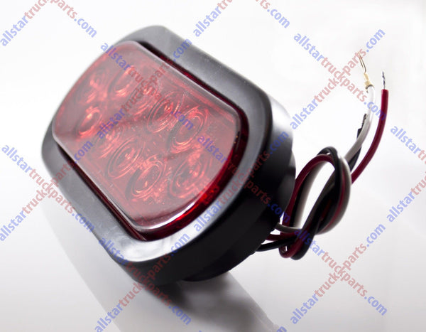 "(2) RED 6"" Oval LED 10 Diode Tail Light w/Grommet & Plug/Pigtail Truck Trailer - All Star Truck Parts"