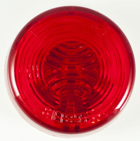 "2"" Inch Red Round Sealed Side Marker Clearance Light - Truck/Trailer - All Star Truck Parts"