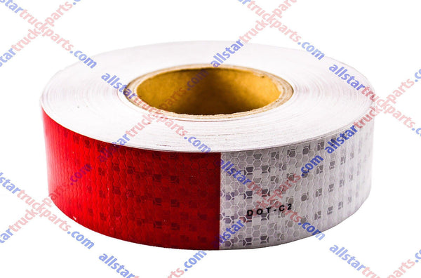 "Conspicuity Tape 2""x150' Approved DOT-C2 Reflective Safety Red White Trailer - All Star Truck Parts"