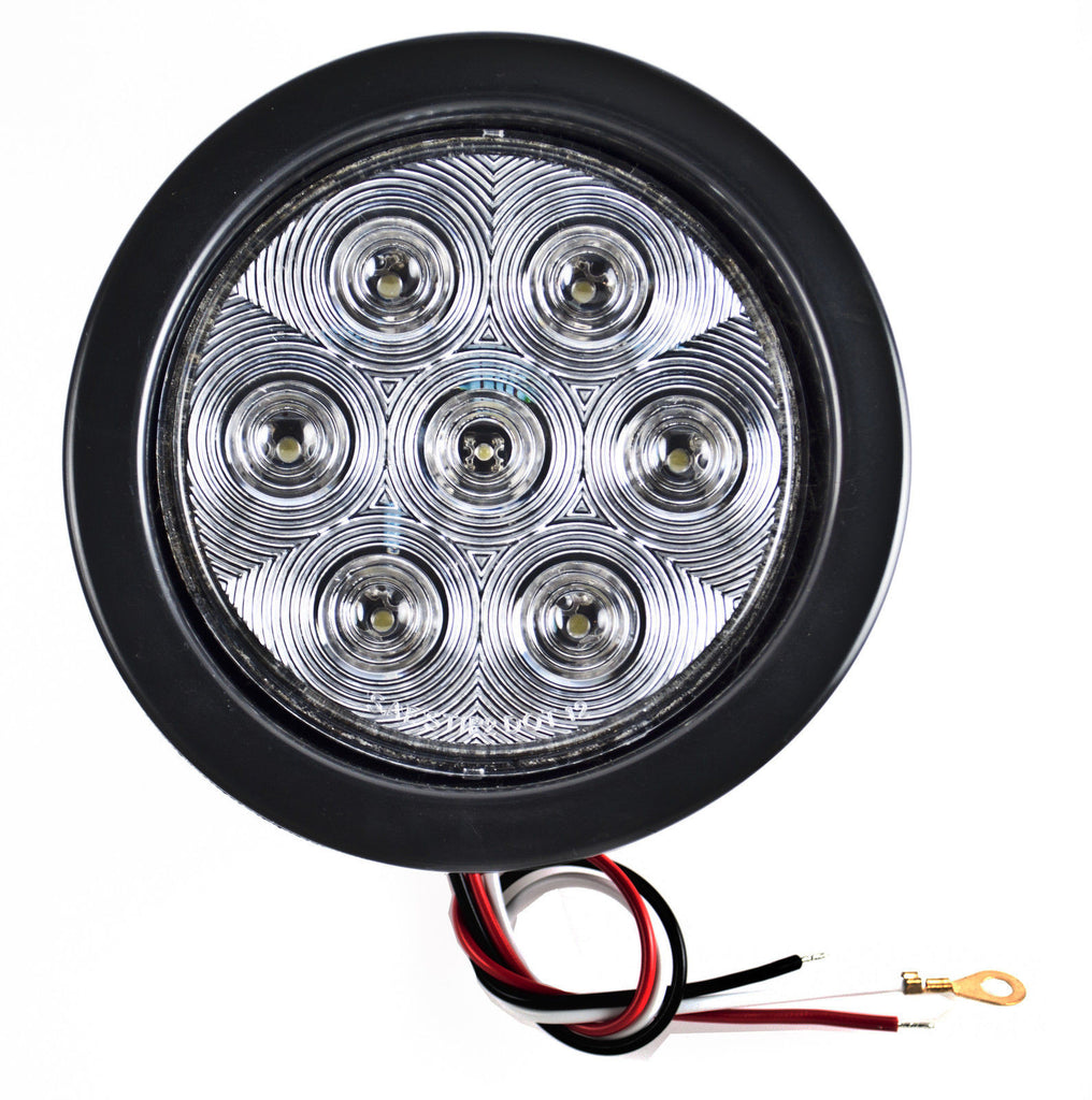 4 U0026quot  Inch 7 Led Round Stop  Backup  Reverse Truck Tail Light