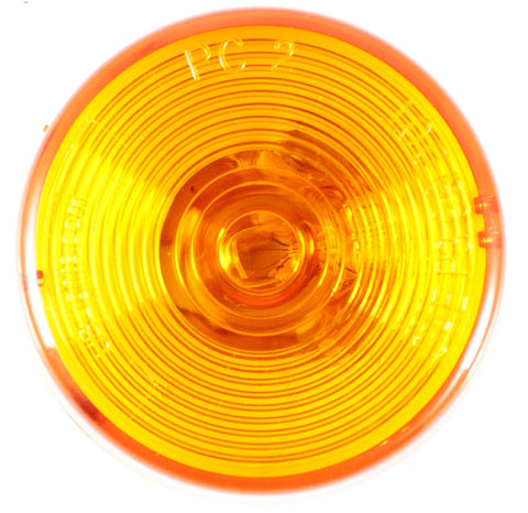 "2.5"" Inch Amber Round Sealed Side Marker Clearance Light - Truck/Trailer - Qty 1 - All Star Truck Parts"