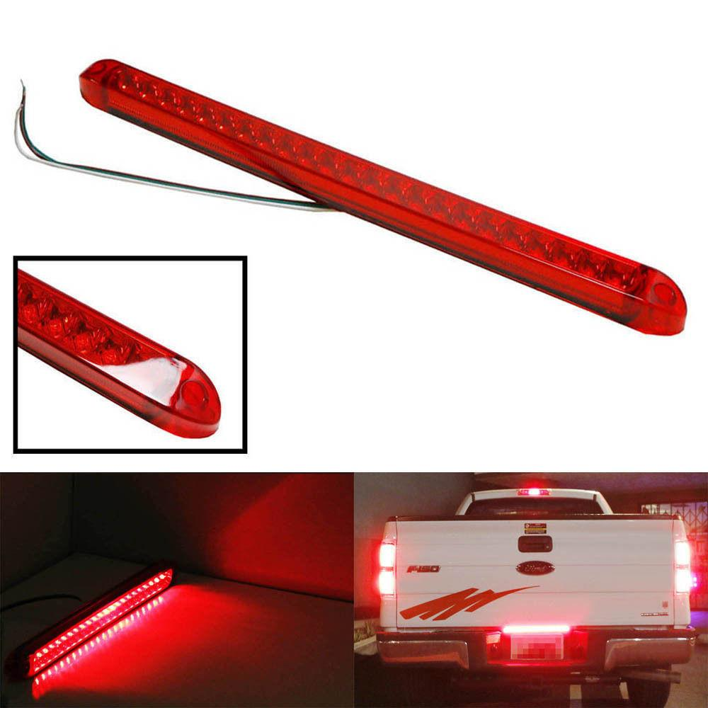 "Submersible Red 23LED Light Bar Stop Turn Tail 3rd brake Light Truck Trailer 17"" - All Star Truck Parts"