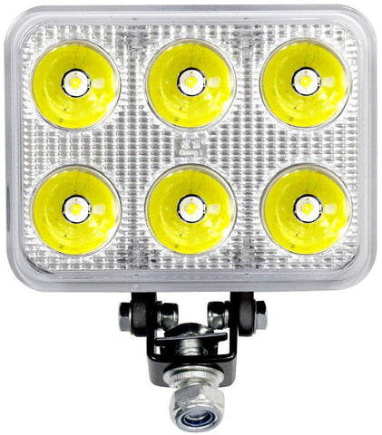 "4.5"" Inch 6 LED Rectangle Work Spot Light 18w Off Road Jeep Truck 4x4 Lamp-Qty 1 - All Star Truck Parts"