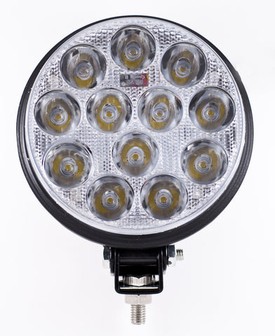 "5"" Inch 12 LED Round Work Spot Light 36w Off Road Jeep Truck 4x4 Lamp - Qty 1 - All Star Truck Parts"