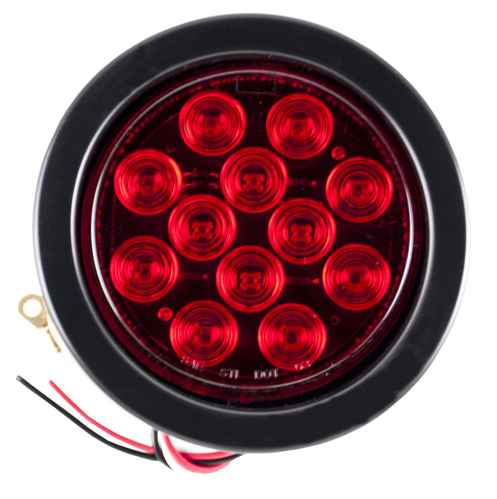4 U0026quot  Inch 12 Led Round Stop  Backup  Reverse Truck Tail Light