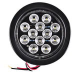 "4"" White 12 LED Round Backup Reverse Truck Light with Grommet & Pigtail - All Star Truck Parts"