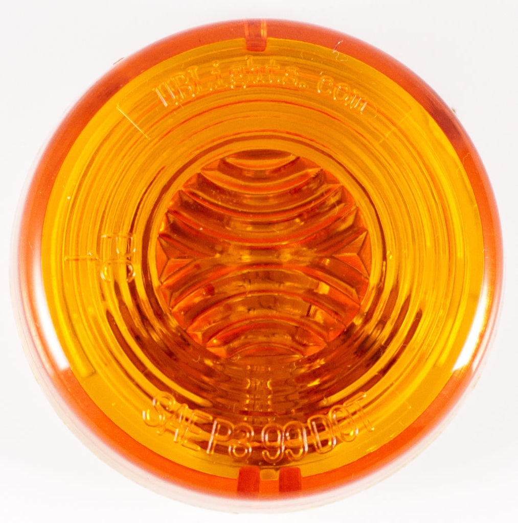 "2"" Inch Amber Round Sealed Side Marker Clearance Light - Truck/Trailer - Qty 1 - All Star Truck Parts"