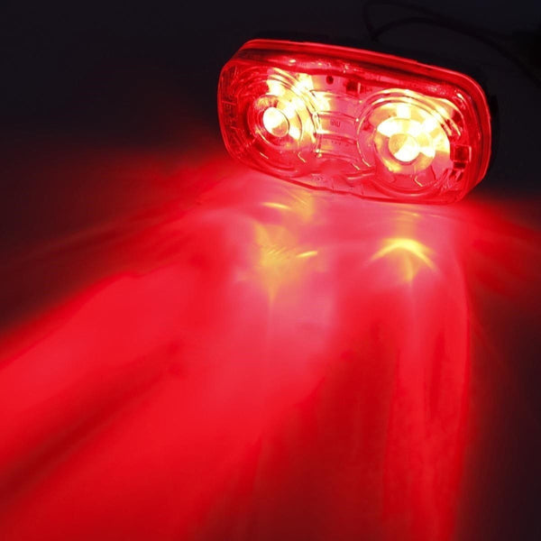 "4"" Inch- 6xRed 5xAmber 12 LED Double Bullseye Side Marker Clearance Light Camper - All Star Truck Parts"