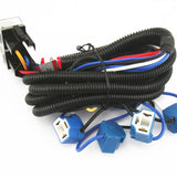 4-Headlight Relay Wiring Harness H4 Headlamp Light Bulb Ceramic Socket Plugs Set - All Star Truck Parts