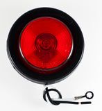 "2.5"" Inch Round Side Marker Clearance Truck Light Red w/ Grommet+Pigtail - All Star Truck Parts"