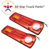 [ALL STAR TRUCK PARTS] [2ND GENERATION ULTRA BRIGHT] 23 LED Red Amber White Integrated Trailer Tail Lights Bar 12V Turn Signal Running Lamp for Trailer UTV UTE RV ATV Box Truck Left and Right (2 Pack)