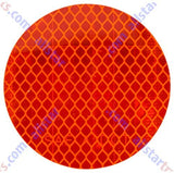 "[ALL STAR TRUCK PARTS] (24 Decal Mix Pack) DOT-SAE Red & Amber 3 Inch Round / 2x3"" Rectangle High Visibility Reflective Stick-On Prism Reflector 